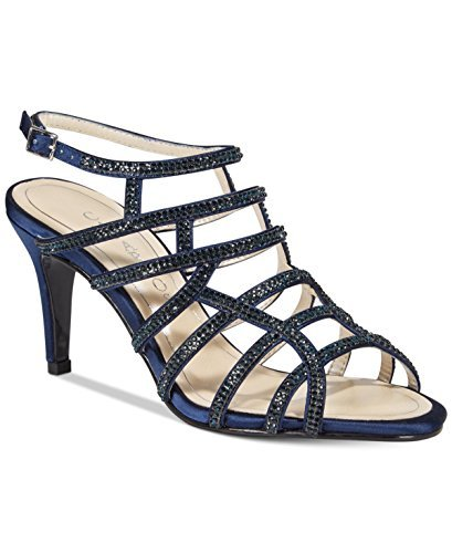 Caparros Womens Harmonica Open Toe Special Occasion Strappy, Navy, Size 7.0