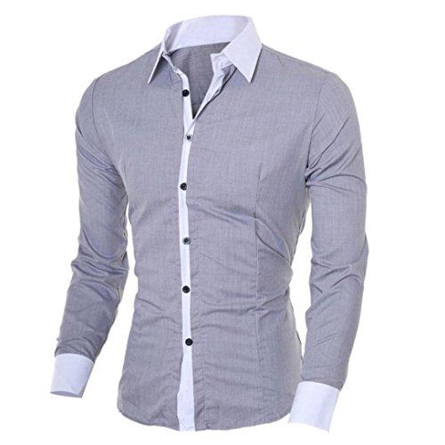 Men's Shirt,FUNIC Fashion Men Casual Slim