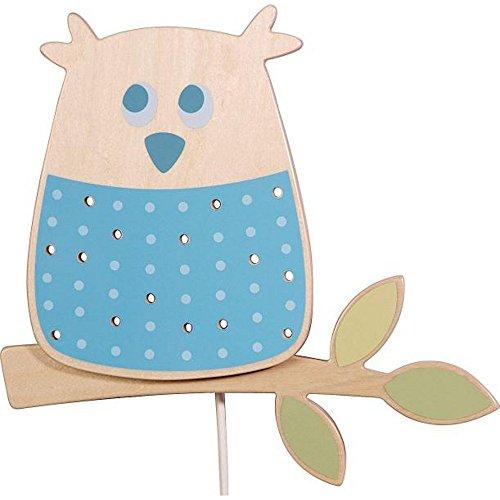 HABA Kinder Wandleuchte Waldeule, Blau, Holz, 7741 [Babyartikel] [Babyartikel]