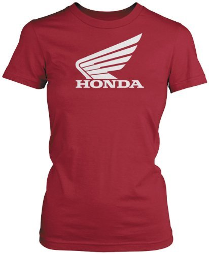 Honda Womens Big Wing Short-Sleeve T-Shirt/Tee, Red, Large