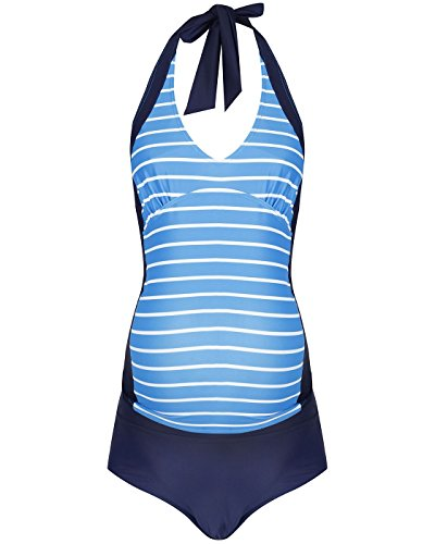 5cb1e9295598f The Essential One - Womens Maternity Nautical Tankini Swimwear - Blue White  - EOM209  Amazon.co.uk  Clothing