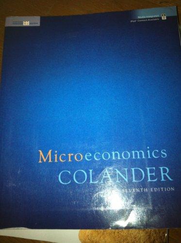 Microeconomics (Homework Ed) 7th