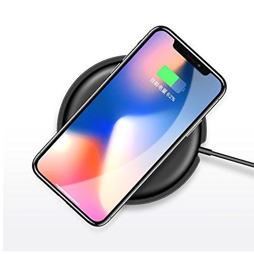 Cargador Inalámbrico Rápido USAMS Wireless Fast Charger QC 2.0 Carga Rápida y Estándar Carga para Móviles con QI Disponibles como iPhone X 8 Plus 8, Samsung Galaxy S8 Plus, S8, S7 Edge, S7, S6 Edge+ Negro01