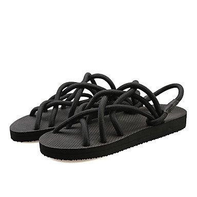 Zapatillas Unisex &Amp; Flip-Flops Primavera Verano LA LUZ DE CONFORT Soles Club zapatos casual tac¨®n cu?a exterior de Nylon Negro Gris claro US8 / EU40 / UK7 / CN41
