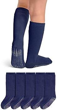 LA Active Knee High Grip Socks - Cozy Warm Winter Socks - Baby Toddler Infant Kids Non Slip/Skid Cotton