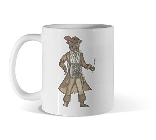 [Red Feather Piarte Drummer Cat 11oz White Mug - Design By Humans] (Best Sci Fi Fantasy Costumes)