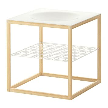 Ikea Ps 2012 Side Table Bowl White Bamboo 48x48 Cm Amazonco