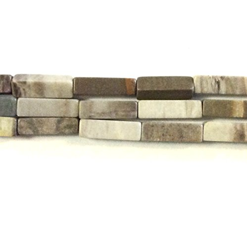 Round 4x13mm Tube Bead - Imagine If…4x13mm Rectangle Picasso Marble 30pcs Stone Beads 15.5