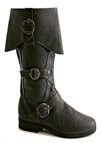 Steampunk Western Medieval Renaissance Ringmaster Cosplay Cowboy Halloween Mens Boots (Halloween Cowboy Boots)
