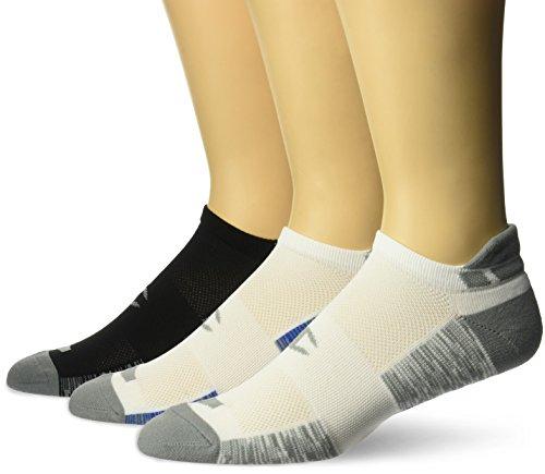 Champion Men's Heel Shield Socks 3-Pack, White/Grey/Blue, 6-12