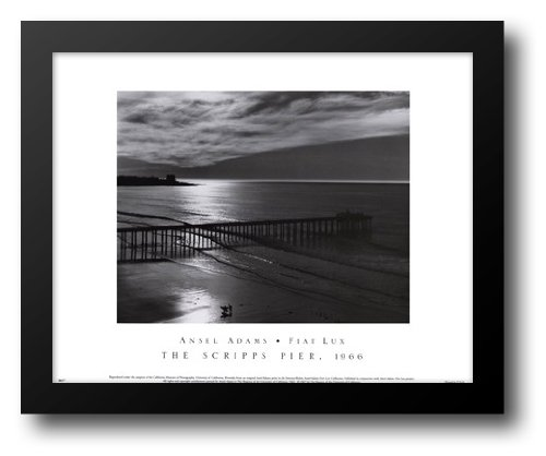 The Scripps Pier 18x15 Framed Art Print by Adams, Ansel