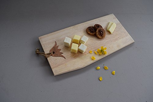 Flowers Relish - Wooden Cheddar Relish Cheese Board with Copper Flower Motif