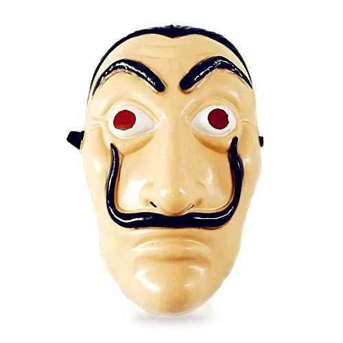 FOONEE Ugly Face Mask,The Original Heist Money Mask,La Casa De Papel Dance PVC Mask for Halloween Party Funny Costumes.
