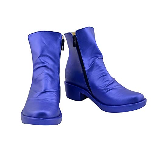 DUNHAO COS Anime JoJo's Bizarre Adventure Johnny Joestar Blue Cosplay Custom Shoes Boots Custom Made -