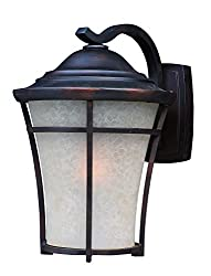 Maxim 3804LACO Balboa DC 1-Light Medium Outdoor Wall, Copper Oxide Finish, Lace Glass, MB Incandescent Incandescent Bulb , 20W Max., Dry Safety Rating, 2900K Color Temp, Standard Dimmable, Shade Material, 900 Rated Lumens