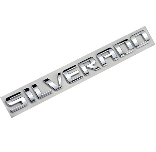 Aimoll 1pc Silverado Nameplate Letter Emblem,Badge 3D Emblem 1500 2500HD 2011-2015 Silverado Chevrolet (Chrome)