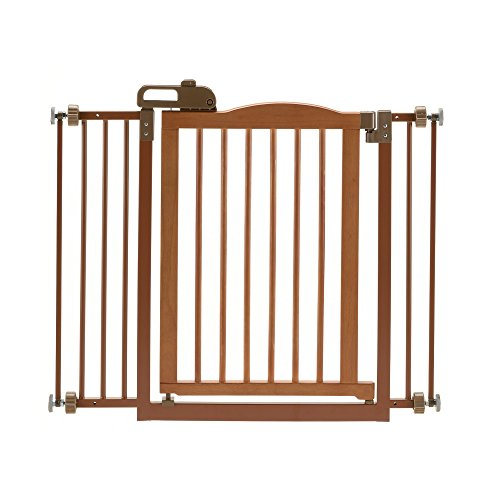 Richell One-Touch II Pet Gate Brown - Richell Gates