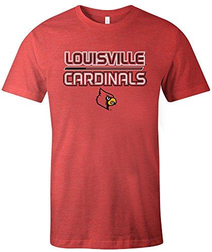 Image One NCAA Louisville Cardinals Adult NCAA Reverse Short Sleeve Triblend ()