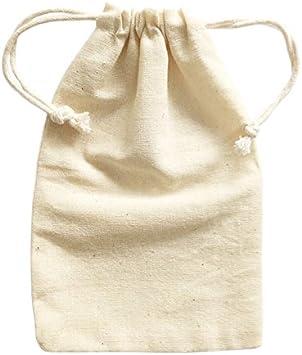 Pequeñas bolsas de algodón con cordón de muselina Doutop color ...