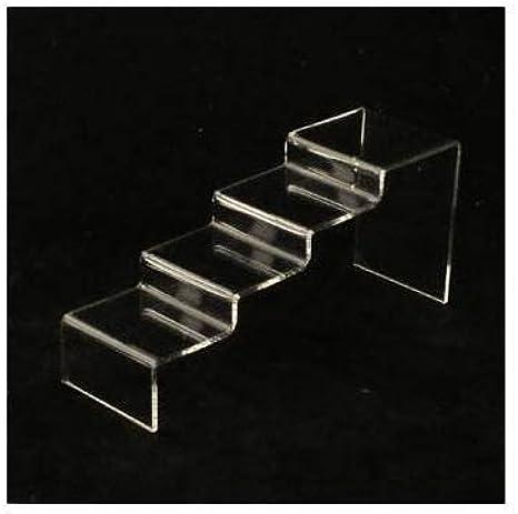 Expositor vitrina en forma de escalera, color transparente – 6082.: Amazon.es: Ropa y accesorios