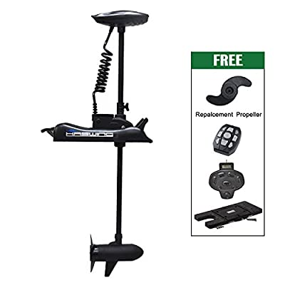 """24v 80lbs Bow Mount Electric Trolling Motor Black 48"""" Shaft with foot control&Quick Release Brakcet"""