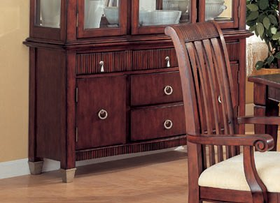 Barrington Casual Dining Set in Rich Brown, Table+8 Chair