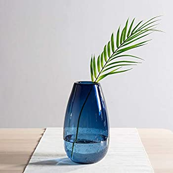 Amazon Amia 10 Inch Tall Hand Painted Glass Vase Featuring A