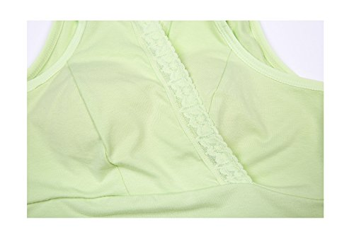 Qirui Green Nursing Lace Bra Underwear Vest Pad Without Style Without Breast Rims Maternity Cross rrOw8qH