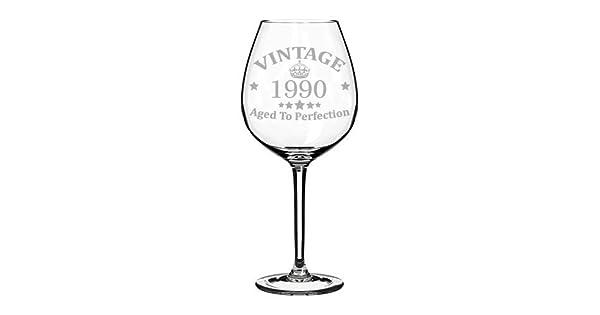 Amazon.com: Copa de vino grabada con láser vintage ...