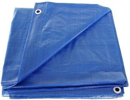 SGT KNOTS Waterproof Tarp 16 x 30 ft 5 mil Thickness - All Weather/Purpose Blue Poly Tarp - Rust-Proof Grommets - Reinforced Edges - for Camping, Hunting, Tent Fly, Painting, Canopy, Cover