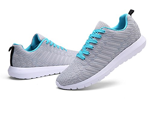 Earsoon Gym Walking Running Trainers Mens 2018 New Design Collection Lightweight Sneaker Hiking Riding Fitness Trainning Sneaker for Mens and Womens Outodoor Shoes Gray m7zFPtf1c