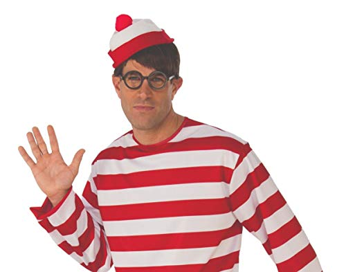 Rubie's Wheres Waldo and Wenda Costume Glasses and Hat -