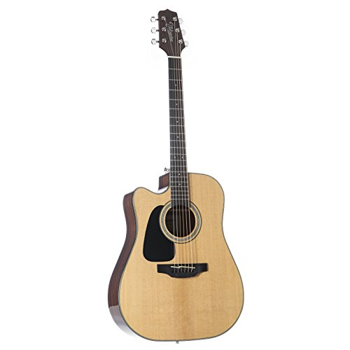 Takamine GD30CELH-NAT Acoustic-Electric Guitar Left-Handed Dreadnought Cutaway, - Handed Guitars Takamine Left