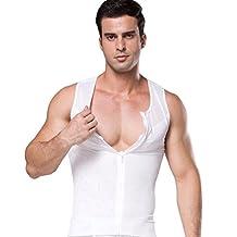 Men Slimming Top Tank Body Shaper Fitness Thermo Sweat Neoprene Zipper Shapewear