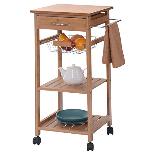rolling-bamboo-kitchen-trolley-cart-storage-shelf-island-w-drawer-baskets-new