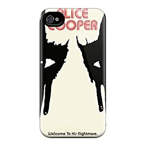 Iphone 4/4s XFG3755oKwg Allow Personal Design Lifelike Alice Cooper Band Pictures Scratch Protection Hard Phone Covers -JamieBratt