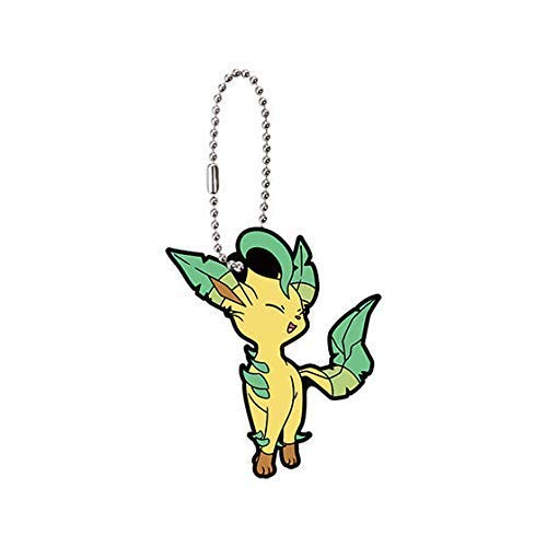 Bandai Pokemon Eevee Special Leafeon Character Gacha Capsule Rubber Key Chain Mascot Collection Anime Art Ver.2 (Pokemon Mystery Dungeon Explorers Of Sky Lucario)