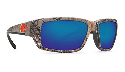 Costa Del Mar Fantail Sunglasses, Realtree Xtra Camo, Blue Mirror 580 Glass ()