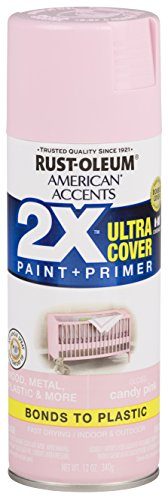 Rust-Oleum 327885 American Accents Spray Paint, 12 oz, Gloss Candy Pink