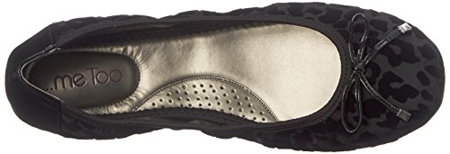 Me Too Women's Halle Ballet Flat Dark Grey Velvet Leopard get to buy cheap price clearance low shipping fee jyujf