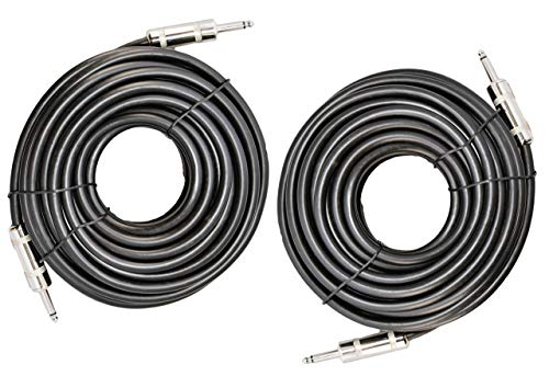 "Ignite Pro 2X 1/4"" to 1/4"" 50 Ft. True 12 Gauge Wire AWG DJ/Pro Audio Speaker Cable, Pair"