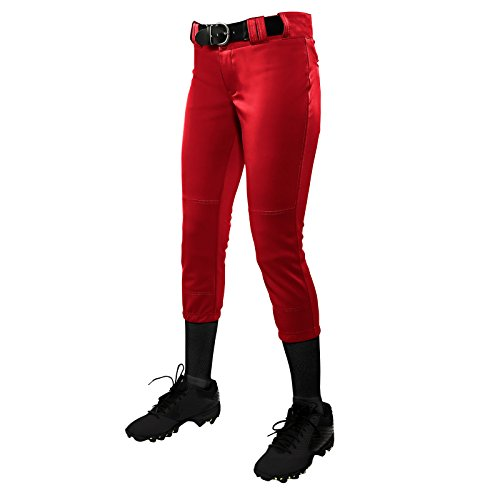 CHAMPRO Tournament Women's Traditional Low-Rise Pant - Scarlet Pants