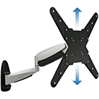 Mount-It! Adjustable TV Wall Mount Bracket - Full Motion Articulating With Gas Spring Arm - Silver