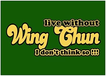 Teeburon Live Without Wing Chun I Dont Think so!!! Pack de Pegatinas x4: Amazon.es: Hogar