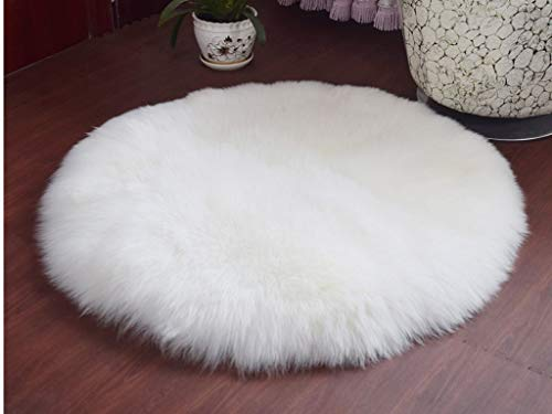 WaiiMak Soft Faux Sheepskin Fur Area Rugs for Bedside Floor Mat Plush Sofa Cover Seat Pad (White) (Sofa Grill)