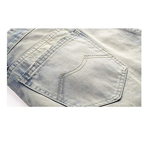 Con In Pantaloni Estremo Giovane Lunghi Uomo Taglio Jeans Da Fashion Usati A M1227 Mano Vintage Strappati Saoye Strappo K1l3uJTFc
