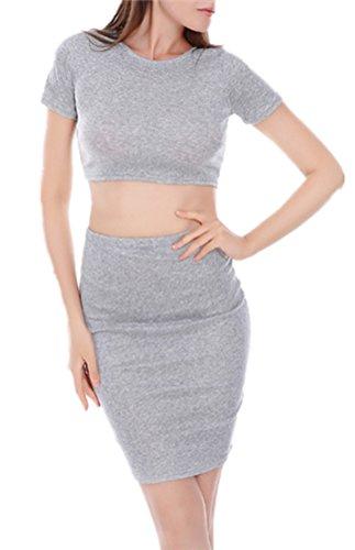 Blansdi Damen Elegant Bodycon Cocktailkleid Zweiteiler Kleider Sets ...