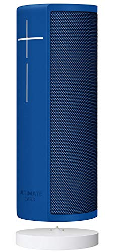 Ultimate Ears MEGABLAST Portable Wi-Fi/Bluetooth Speaker with Hands-Free Alexa Voice Control (Waterproof) Blue Steel + Charging Dock (Renewed)