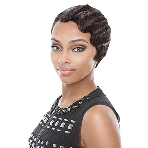 Little Story Women Short Brown Black Front Curly Hairstyle Synthetic Hair Wigs for Brown ()