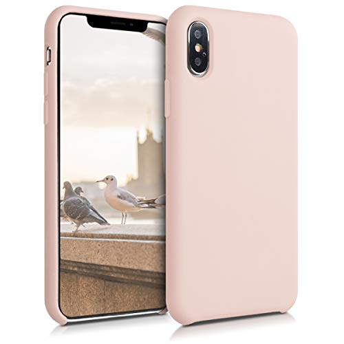 kwmobile TPU Silicone Case for Apple iPhone Xs - Soft Flexible Rubber Protective Cover - Dusty Pink from kwmobile